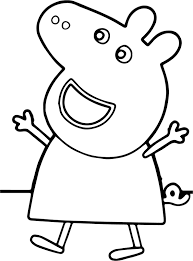 peppa pig happy coloring page wecoloringpage
