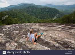 table rock mountain sc hiking table rock mountain in table rock state park in south stock