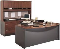 Bush Office Desk Bush Furniture Bow Front U Shaped Desk With Hutch