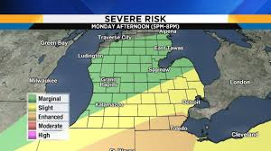 Maps Michigan Login by Labor Day Forecast Severe Weather Risk Increases For Se Michigan
