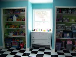 Fun Playroom Ideas For Kids With Nice Black And White Tile Design