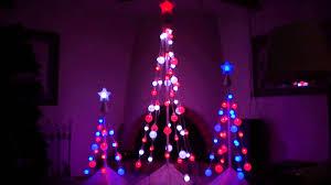 led color changing light show christmas tree u0027s no sound show