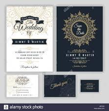 Date Invitation Card Vintage Wedding Invitation Mehndi Mandala Design Sets Include