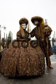 carnevale costumes two brown costumes and masks carnevale di venezia carnival in ven