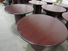 used round office table used hon office tables furniturefinders