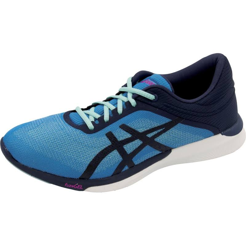 ASICS FuzeX Rush Running Shoes Blue- Womens