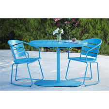 Veranda Metal Patio Loveseat Glider by Avenue Greene Blue Outdoor Steel Nesting Bistro Patio Set 3 Piece