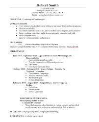 Sample Resume For Canada by Download Resumes For Students Haadyaooverbayresort Com
