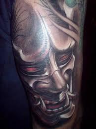 hannya mask tattoo black and grey hannya mask large irezumi pinterest masking tattoo and irezumi