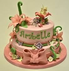 tinkerbell cakes two tier tinkerbell cake children s birthday cakes celebration