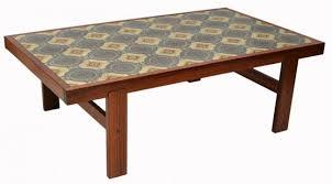 tile top coffee table brilliant tile coffee table danish mid century modern tile top