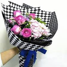 waterproof wrapping paper diamond shaped korean wrapping paper waterproof flower wrapping