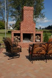 Char Broil Outdoor Patio Fireplace by Don U0027t Forget About Your Outdoor Space Add A Brick Fireplace With