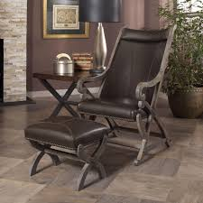 Oversized Living Room Furniture Sets Furniture Leather Club Chair And Ottoman Upholstered Accent