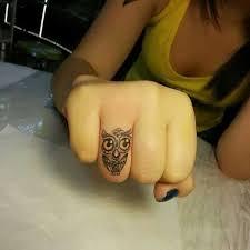 small finger owl tattoo tattoomagz