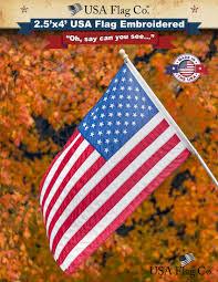 Flag Day Usa American Flag 2 5x4 Foot Embroidered Stars U0026 Sewn Stripes Usa