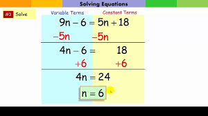 Multi Equations With Variables On Both Sides Worksheet Multi Equations Variables On Both Sides Part I Welcome To