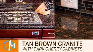kitchen cabinet color with brown granite countertops brown granite kitchen countertops with cherry cabinets marble