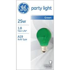 ge 25 watt a19 green party light 1 pack walmart com