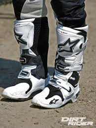 white motocross boots alpinestars 2014 tech 10 boots dr tested dirt rider magazine