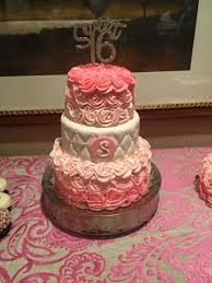 sweet 16 three tier pink rose birthday cake cakecentral com