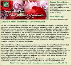 Grocery Merchandising Jobs Assistant Front End Manager Jobs Grocery Store Jobs At The Fresh