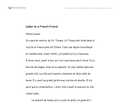 french letter format format