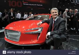 audi ceo audi ceo rupert stadler poses with an audi e ahead of the