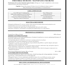 exles of resumes and cover letters maintenance resumer letter best industrial mechanic exles
