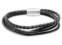 multi leather bracelet images Men 39 s leather bracelets jpg