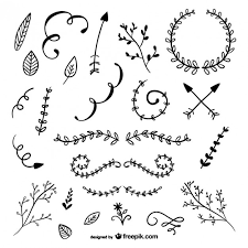 rustic ornaments pack vector free