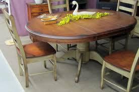 round pedestal dining table with butterfly leaf impressive voorhees craftsman mission oak furniture original vintage