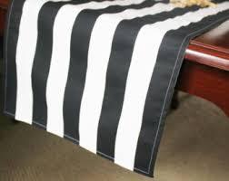 black white striped table runner black white stripe table runner choose size by caysondecor