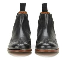 womens black chelsea boots uk grenson s brogue chelsea boots black free uk delivery