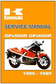kawasaki workshop manual gpz600r zx600 gpz500r zx500 1985 1986