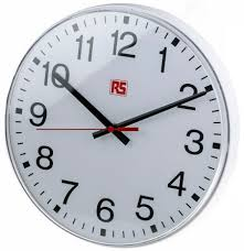 wall watch rs pro white wall clock 300mm