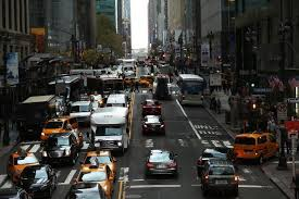 achieves the drive through new york city traffic bgr