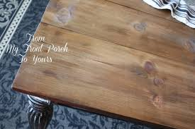 Diy Round Wood Table Top by From My Front Porch To Yours Diy Wood Plank Table Top Reveal