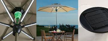 Patio Umbrella Lighting Solar Powered Patio Umbrella Shade By Day And Light At