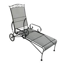 Wrought Iron Chaise Lounge Backyard Creations Wrought Iron Chaise Lounge Patio Chair At