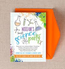 science party invitations science birthday party invitations