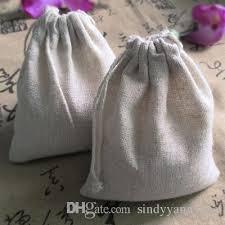 linen favor bags best cotton linen drawstring bag 10x15cm4x6 personalized logo