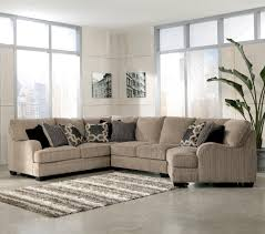 ashley furniture floor ls katisha platinum 4 piece sectional sofa with right cuddler by