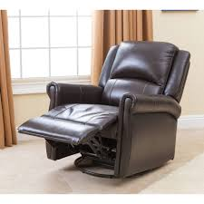 Leather Chair And A Half Recliner Black Leather Chair With High Recliner Combined With Arm And Foot