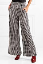 by malene birger by malene birger belliz houndstooth knitted wide leg net