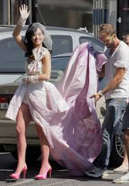 katy perry wedding dress singer katy perry wears pink wedding dress guide