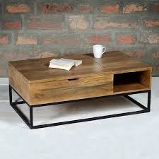 Mango Wood Coffee Table Suri Industrial Modern Coffee Table With Storage In Mango Wood