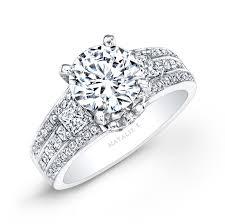white diamond rings images 14k white gold three row white diamond engagement ring jpg