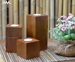 bougie marocaine photophore photophore mangue bois teck couleur forme carrée chandelier id de