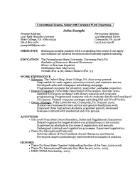 Sample Resume For Engineering Students by Sample Resume By A First Year Student Free Download